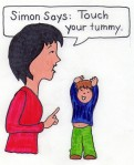 Simon Says touch your tummy