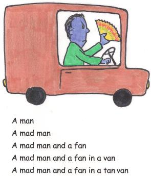 A mad man and a fan in a van