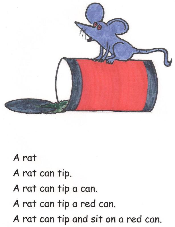 A rat can tip a red can.