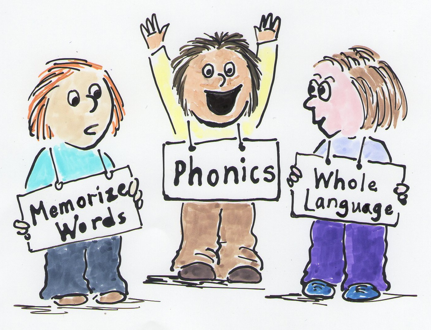 look say method vs phonics