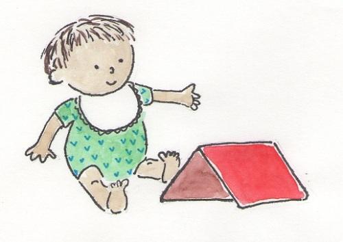 baby looking at an iPad