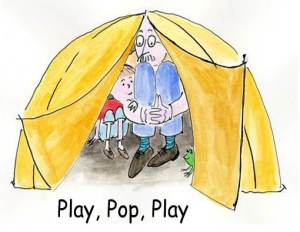 """Play, Pop, Play"" book app cover"