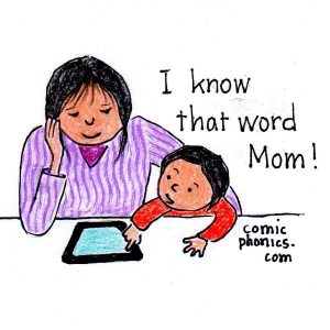"""I know that word, Mom,"" says the child lookin"