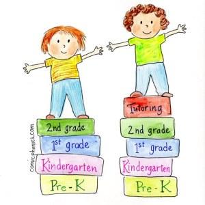 2 kids showing tutoring's advantage