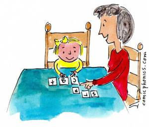 Reading tutor with 4-year-old