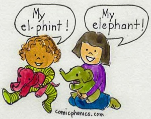 children pronouncing elephant
