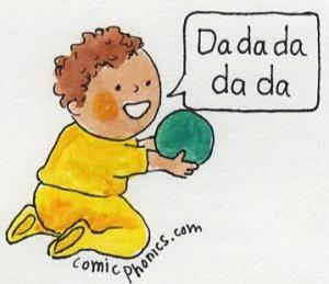 toddler saying dadadada