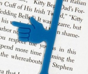 pointing-finger-on-rubber-band-like-bookmark