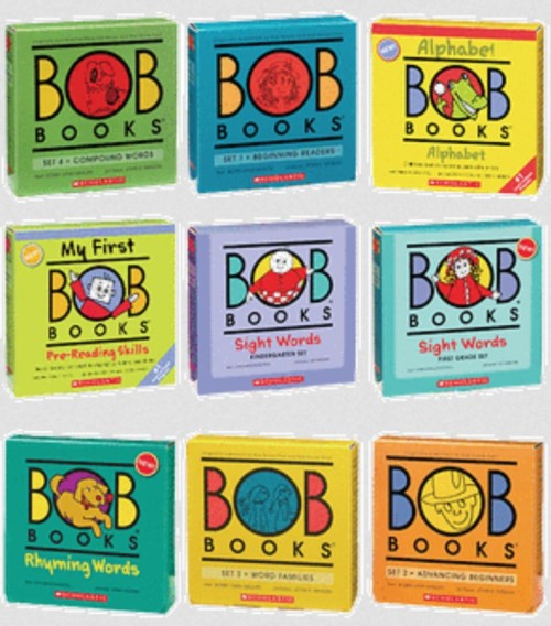 Picture of 9 Bob Book sets.